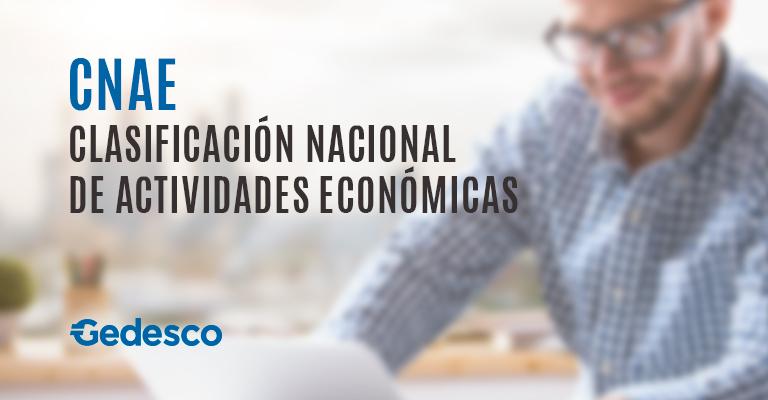 CNAE, Clasificación Nacional de Actividades Económicas