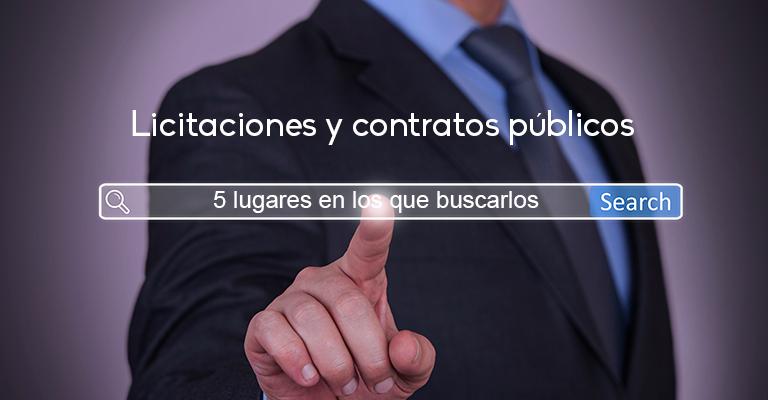 Cinco lugares en los que buscar licitaciones y contratos públicos